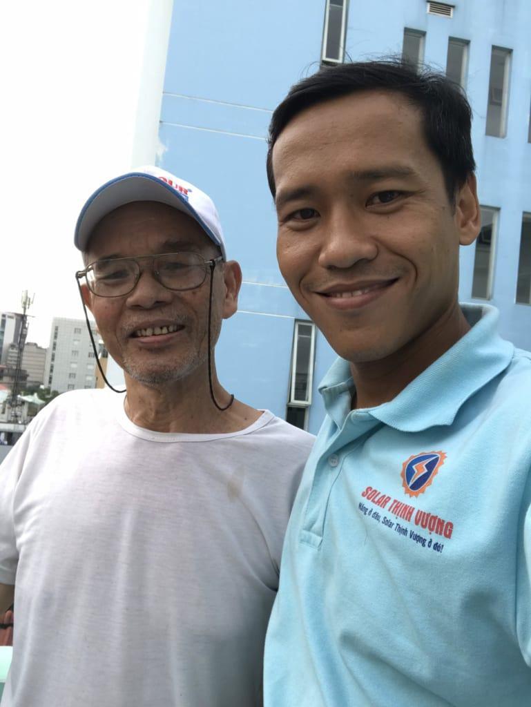 Khách hàng lắp đặt điện mặt trời - Thiếu Tá Nguyễn Xuân Thơm