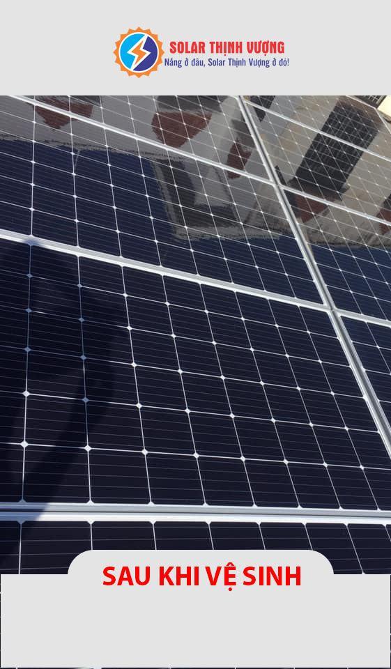 Vệ sinh pin mặt trời quận 9 - Sau vệ sinh
